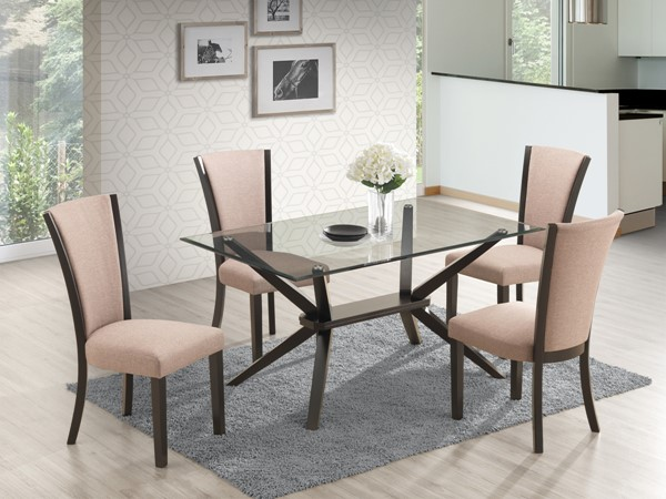 New Classic Furniture Ming 5pc Dining Room Set NCF-D3660-10-DR-S1