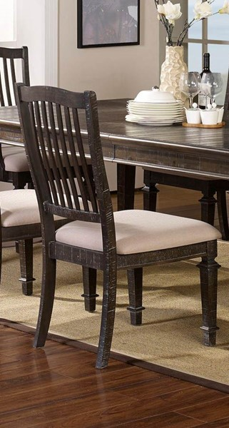 2 New Classic Furniture Cadiz Brown Gray Side Chairs NCF-40-821-20