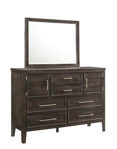 New Classic Furniture Andover Nutmeg Dresser and Mirror NCF-B677B-50-60-DRMR