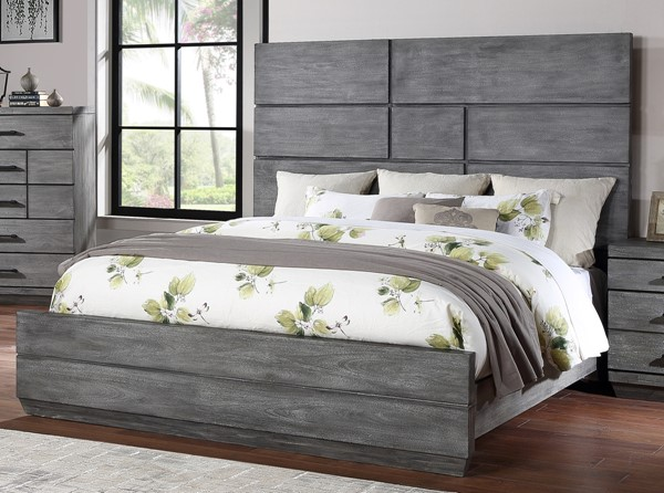 New Classic Furniture Nottingham Gray Bed NCF-B711-QK-BED-VAR