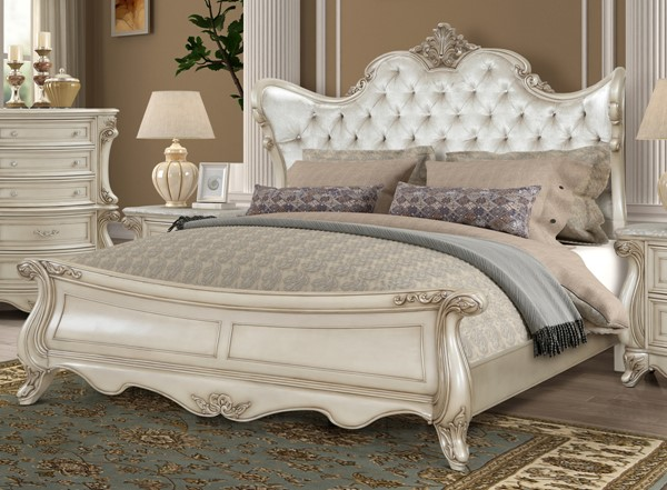 New Classic Furniture Monique Pearl Bed NCF-B992-QK-BED-VAR