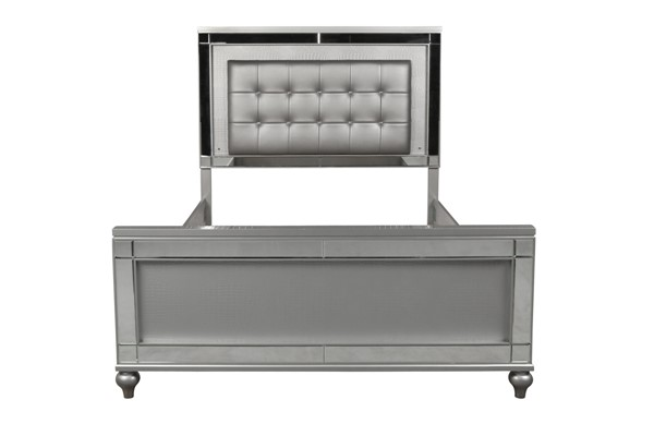 New Classic Furniture Valentino Silver White Bed NCF-BA9698S-QK-BED-VAR