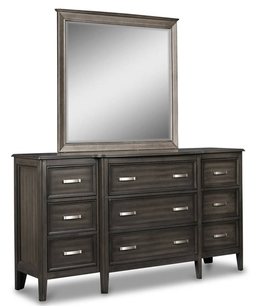 New Classic Furniture Richfield Smoke Dresser and Mirror NCF-BH117S-50-60-DRMR