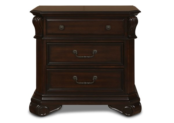 New Classic Furniture Emilie Brown Nightstand NCF-BH1841-040