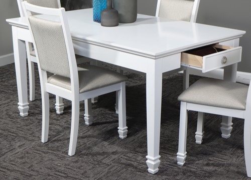New Classic Furniture Tamarack White Fixed Top Dining Table NCF-D044W-10