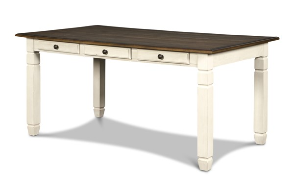 New Classic Furniture Prairie Point Cottage White Rectangle Dining Table NCF-D058W-10