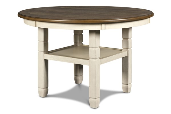 New Classic Furniture Prairie Point Cottage White 47 Inch Round Dining Table NCF-D058W-11