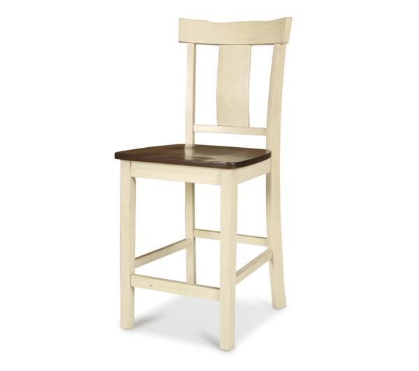 2 New Classic Furniture Heather Weathered White Counter Chairs NCF-D1309-22