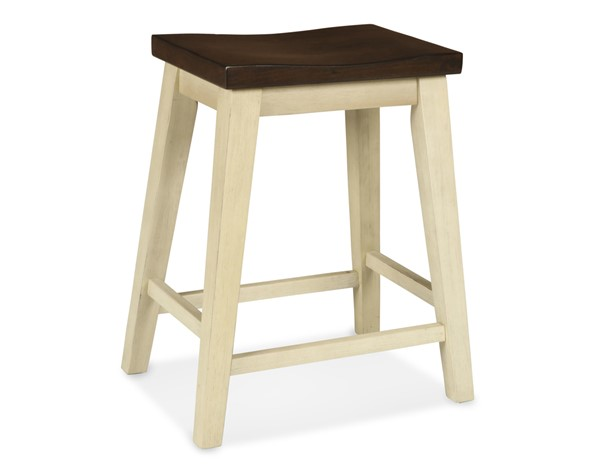 2 New Classic Furniture Heather Weathered White Counter Stools NCF-D1309-26