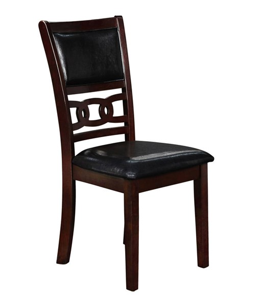 2 New Classic Furniture Ebony Gia Dining Chairs NCF-D1701-20-EBY