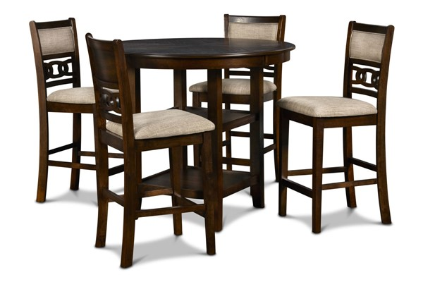 New Classic Furniture Cherry Gia Ii 5pc Counter Height Bar Set NCF-DH1701-52S-CHY