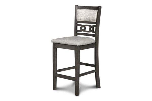2 New Classic Furniture Gray Gia Counter Chairs NCF-D1701-22-GRY