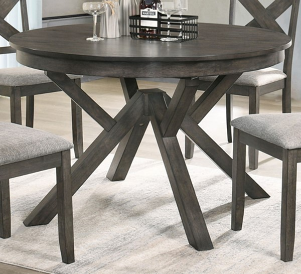 New Classic Furniture Gulliver Brown Round Dining Table NCF-D1902-11