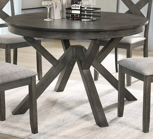 New Classic Furniture Maisie Brown Round Table NCF-D1903-11