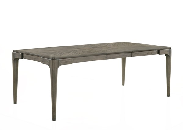 New Classic Furniture Dorset Weathered Grey Leaf Dining Table NCF-D291-10
