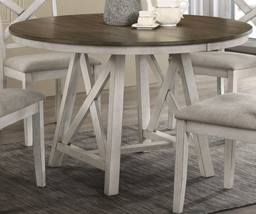 New Classic Furniture Somerset White Round Table NCF-D2959-11