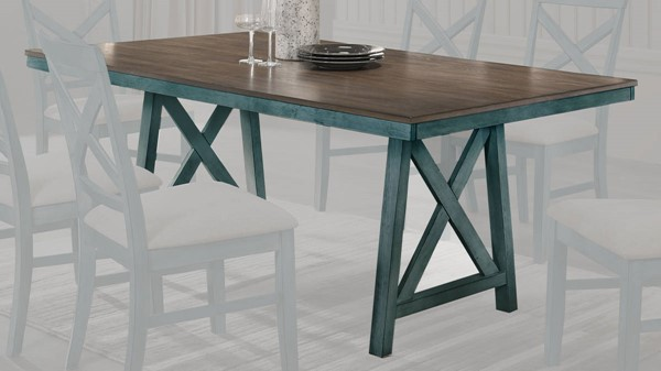 New Classic Furniture Somerset Blue Dining Table NCF-D2959B-10