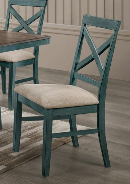 2 New Classic Furniture Somerset Blue Side Chairs NCF-D2959B-20