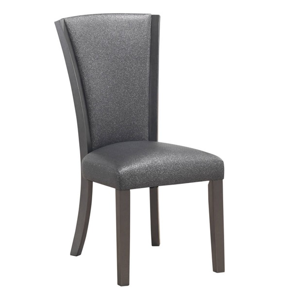 2 New Classic Furniture Platina Glitter Gray Side Chairs NCF-D3639G-20