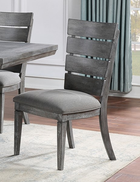 2 New Classic Furniture Nottingham Gray Side Chairs NCF-D711-20