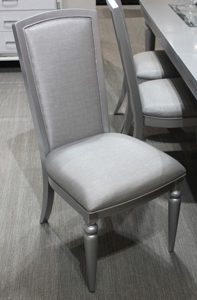 2 New Classic Furniture Valentino Silver Side Chairs NCF-D9698S-20