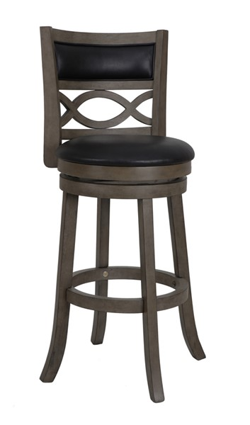 2 New Classic Furniture Manchester Gray 29 Inch Bar Stools NCF-S1128-BS-PG