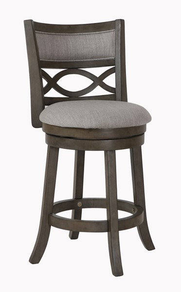 2 New Classic Furniture Manchester Gray Fabric 24 Inch Counter Stools NCF-S1128-CS-FG