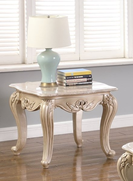 New Classic Furniture Monique Pearl End Table NCF-T502-20