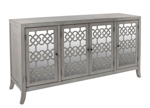 New Classic Furniture Charlotte Gray 4 Doors Credenza NCF-TA1011-4-CGY