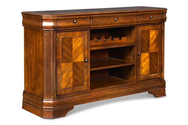 New Classic Furniture Sheridan Burnished Cherry Entertainment Console NCF-TH005-40