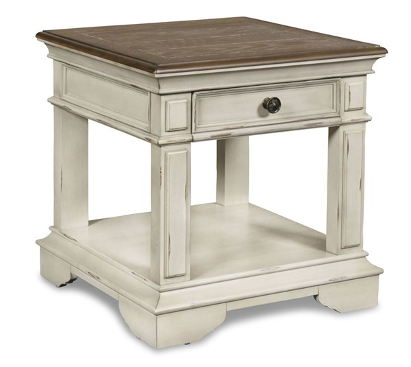 New Classic Furniture Anastasia White End Table NCF-TH1731-20