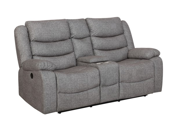 New Classic Furniture Granada Gray Power Footrest Console Loveseat NCF-U1598-25P1-AGY