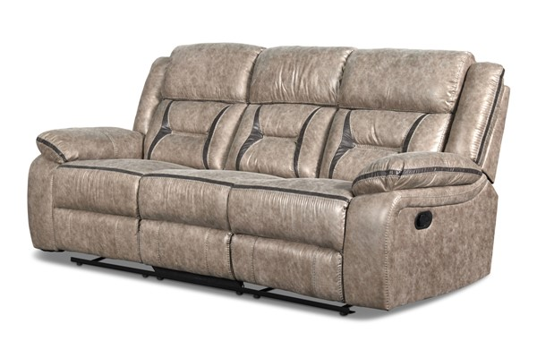 New Classic Furniture Roswell Pewter Dual Recliner Sofa NCF-U4227-30-PTR