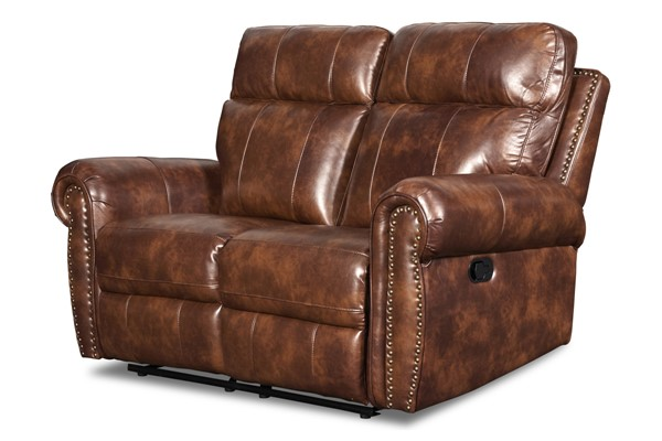 New Classic Furniture Roycroft Pecan Power Footrest Recliner Loveseat NCF-UC2360-20P1-PEC