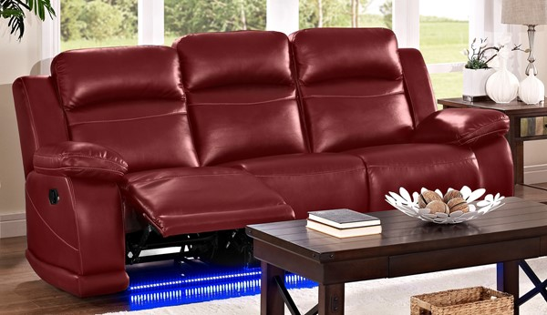 New Classic Furniture Vega Red Dual Recliner Sofa NCF-UC3822-30-PRE