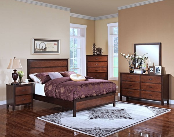 Bishop Ginger Chestnut Hardwood Solids Master Bedroom Set NCF-00-145-BR