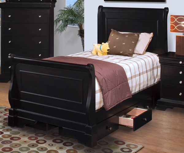 New Classic Furniture Belle Rose Youth Sleigh Storage Beds NCF-00-013-SSTB-VAR