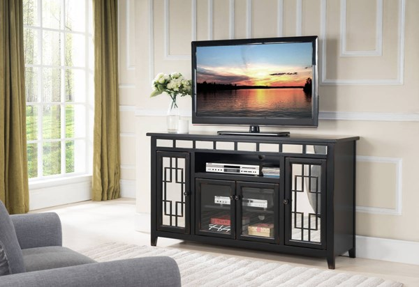 New Classic Furniture Gable Black 60 Inch Entertainment Unit NCF-T1017-60-BLK