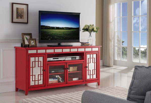 New Classic Furniture Gable Red 60 Inch Entertainment Unit NCF-T1017-60-RED