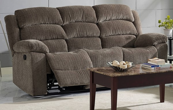 New Classic Furniture Austin Stone Full Power Headrest Sofa NCF-22-2134-32PH-UBR