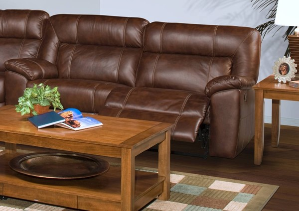 New Classic Furniture Thorton Dual Recliner Sofa NCF-20-398-30-BRW