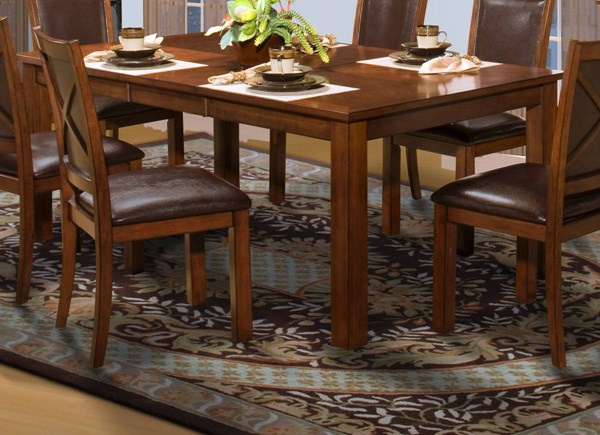 New Classic Furniture Aspen Rectangle Dining Table NCF-40-116-10