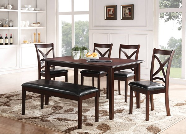New Classic Furniture Milo 6pc Dining Room Set NCF-D1435-60S