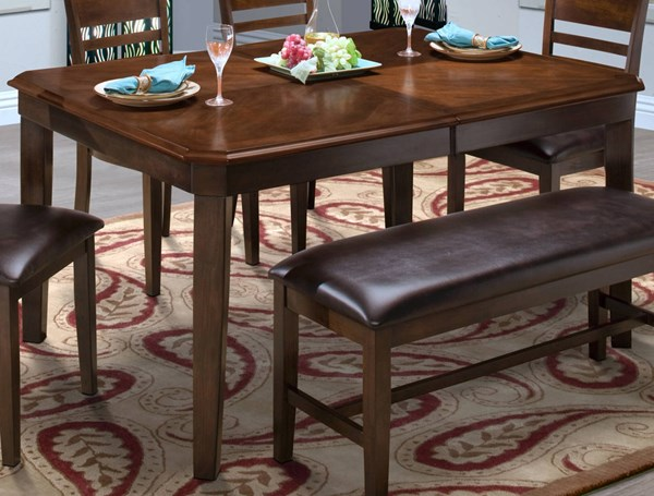 New Classic Furniture Latitudes Chestnut Dining Table NCF-40-150-11C