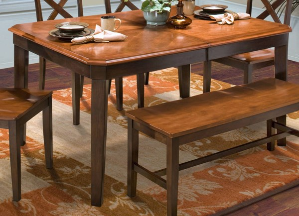 New Classic Furniture Latitudes Ginger Chestnut Dining Table NCF-40-150-11T