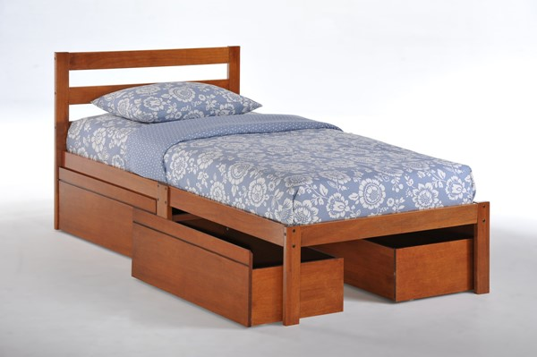 Night And Day Furniture Cherry Chocolate Additional Drawer Beds NDF-BITBD-TWN-ADR-BED-VAR