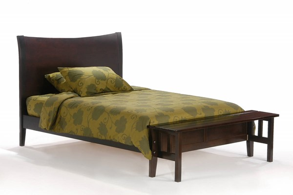 Night and Day Furniture P Series Cherry Blackpepper Beds with Footboard Bench NDF-BPE-FFB-PH-BED-VAR