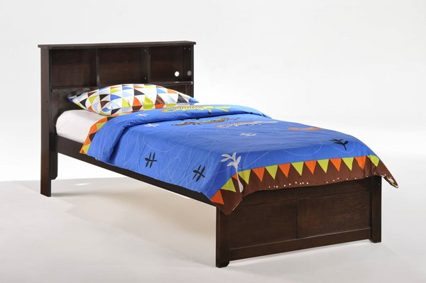 Night and Day Furniture Butterscotch Chocolate Twin Bookcase Bed NDF-YHF-BUT-TWN-CHO-COM