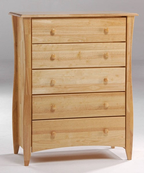 Night and Day Furniture Clove Natural 5 Drawer Chest NDF-CD-CLOF-5A-NA