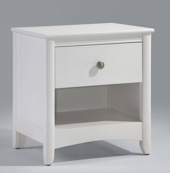 Night And Day Furniture Secrets White Nightstand NDF-CD-SEC-1A-WH